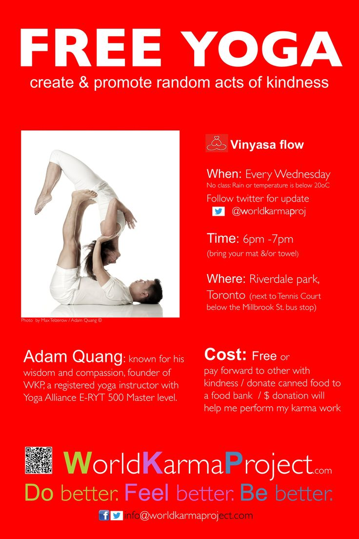 Free yoga class - toronto poster 36 x 54 inches