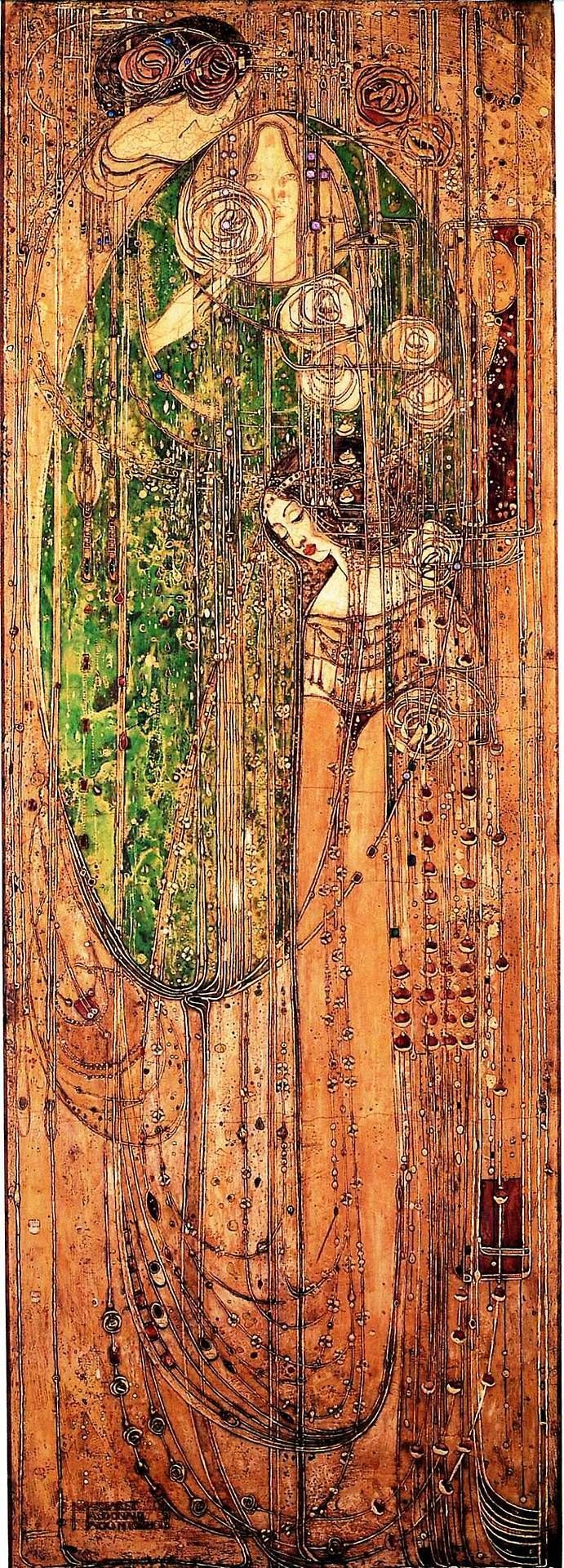 I love this painting and want to get a print. ~~ Margaret Macdonald Mackintosh - Oh ye, all ye that walk in Willowood