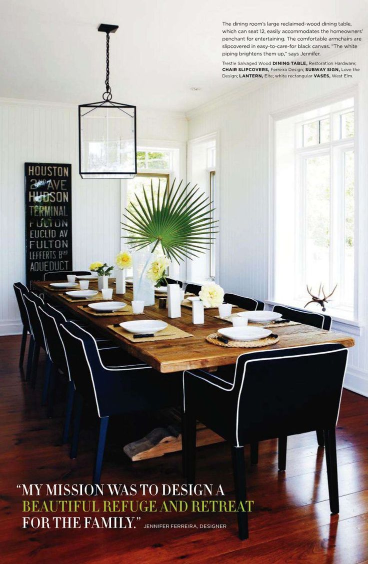 Formal dining room reclaimed wood dining table paired