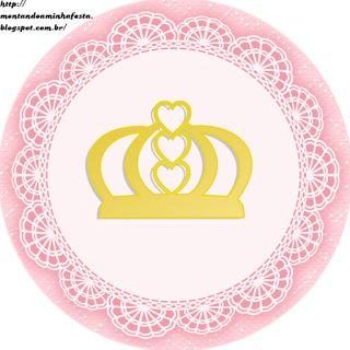 Montando a minha festa: Kit digital gratuito para imprimir Princess - Coroa de…
