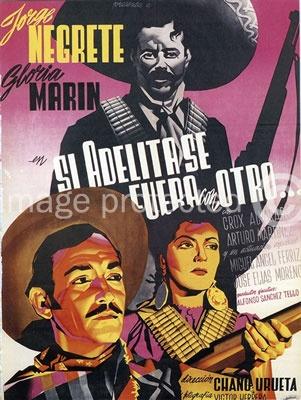 Si Adelita Se Fuera con Otro Vintage Mexican Cinema Poster