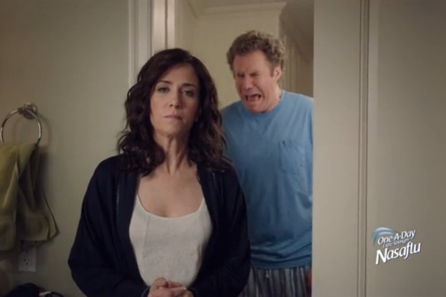 "A Hilarious Cold Commercial With Will Ferrell and Kristen Wiig ""One a Day Nasaflu"""