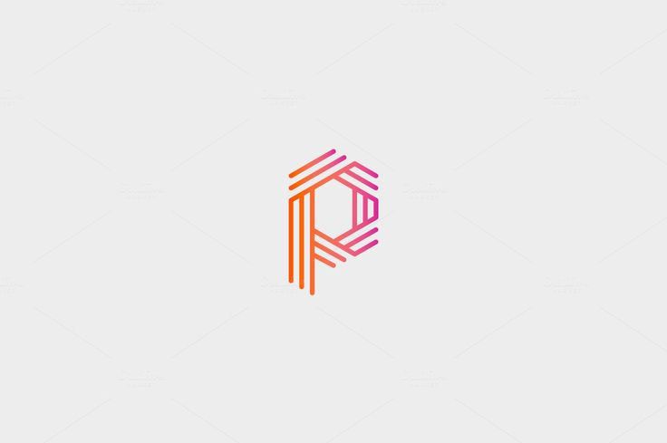 Abstract Letter p logo design by Bureau on @creativemarket
