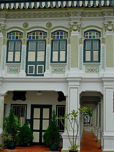 Peranakan corner shophouse home