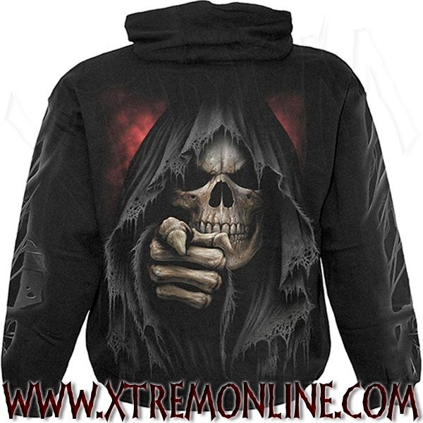Finger of Death sudadera con capucha XT3851. Ropa gótica, heavy metal y alternativa para chico. Visitanos!