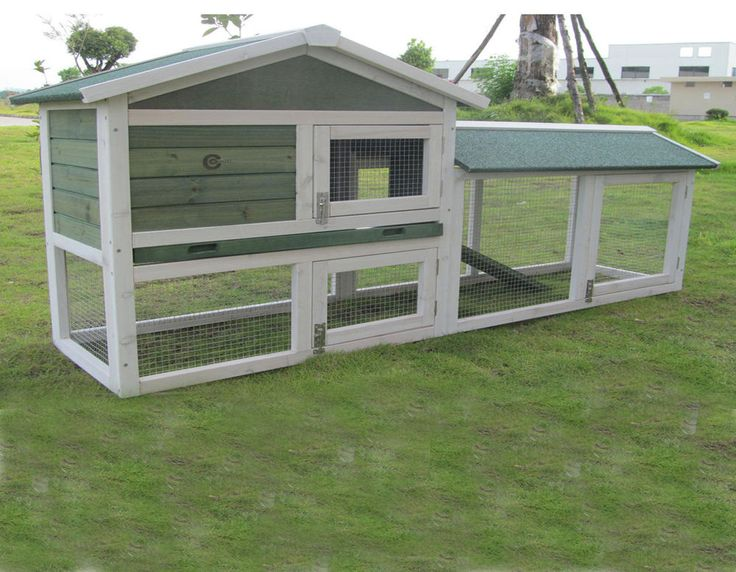 LARGE RABBIT HUTCH GUINEA PIG HUTCHES RUN RUNS 2 TIER DOUBLE DECKER FERRET CAGE
