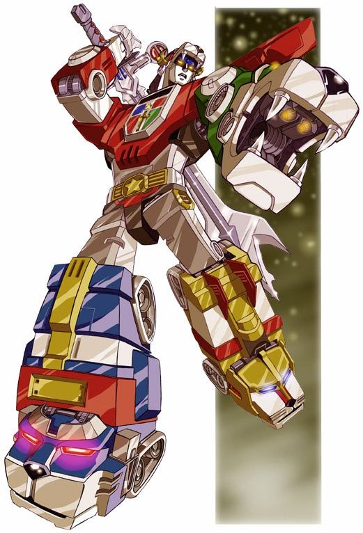before power rangers, things combined to form this guy - Voltron, thats some old school anime!