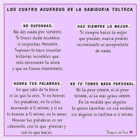 4 acuerdos de sabiduria Tolteca