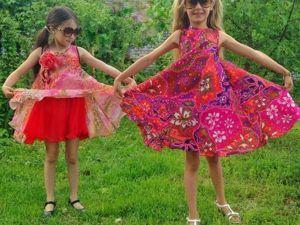 c181b49a850 Шьем эффектное пляжное платье для девочки. Ярмарка Мастеров - ручная  работа