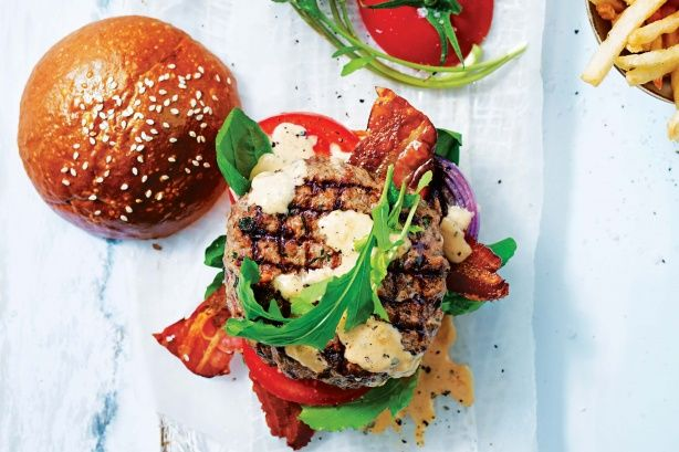 Create the best summer burger covered in special tangy sauce.