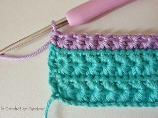 le Crochet de Pandore: Tutorial  (star stitch) ༺✿ƬⱤღ  https://www.pinterest.com/teretegui/✿༻