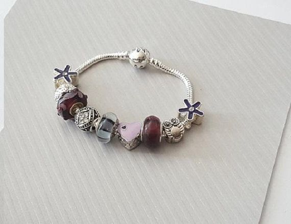 Pin on bracelet murano et style pandora