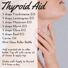 Did you know that essential oils can support your Thyroid? #healthyisthenewblack