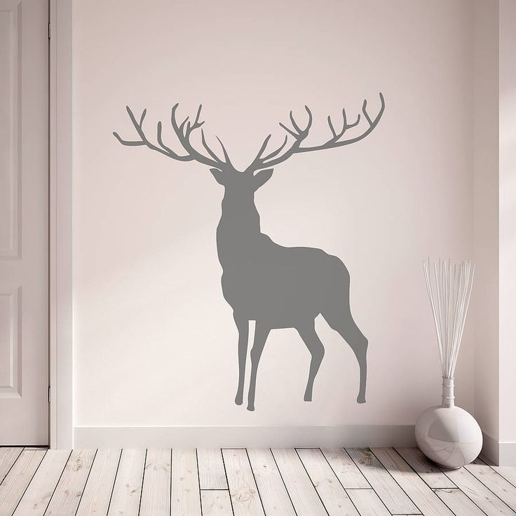 Wall Sticker Design Ideas aliexpresscom buy art fashion design home decor vinyl good idea words wall sticker cheap colorful house decoration character bulb decals in rooms from Stag And Deer Vinyl Wall Stickers