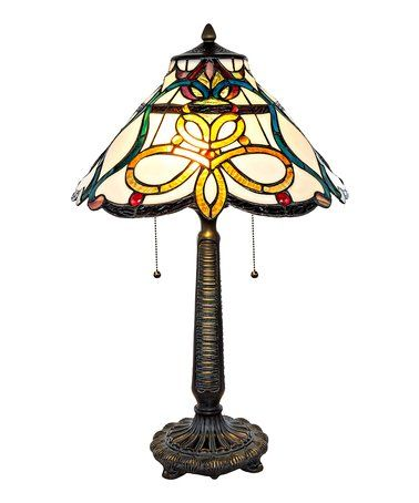Loving This Tiffany Style Stained Glass Circular Knots Table Lamp