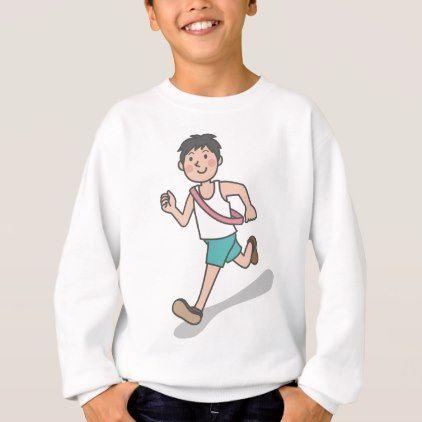 #Running Anime Boy Sweatshirt - #travel #clothing