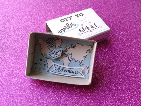 Wedding card congratulations, Travel gift, Engagement card, New adventure, Nautical card, World map, New job card, Origami ship