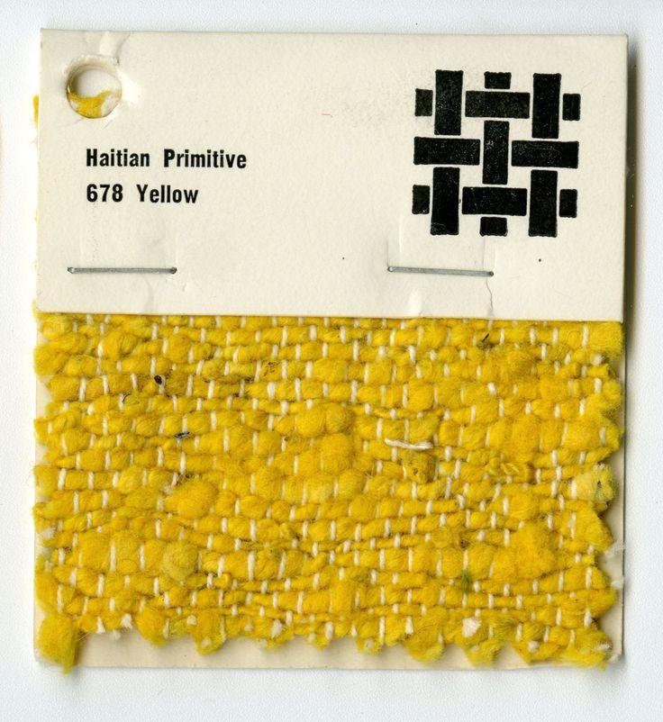 thedesigncenter:    Jack Lenor Larsen woven sample -Haitian Primitive Twill -Yellow