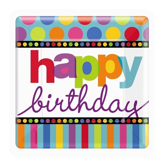 86 best birthday greetings images on pinterest happy for Dots and stripes party theme