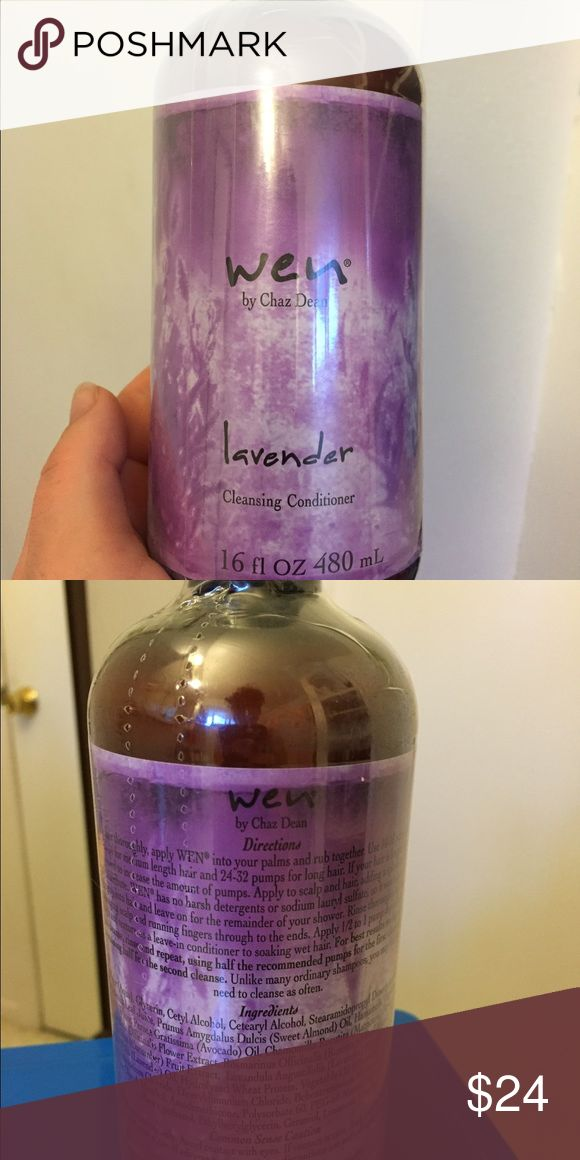 Wen Hair Care: Lavender Cleansing Conditioner 16oz Wen Hair Care By Chaz Dean: Lavender Cleansing Conditioner 16oz. Love this hair product it truly works wonders. I just have too much and need to downsize my cabinet space! Wen Hair Care Other