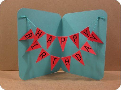 DIY Bunting Birthday Card