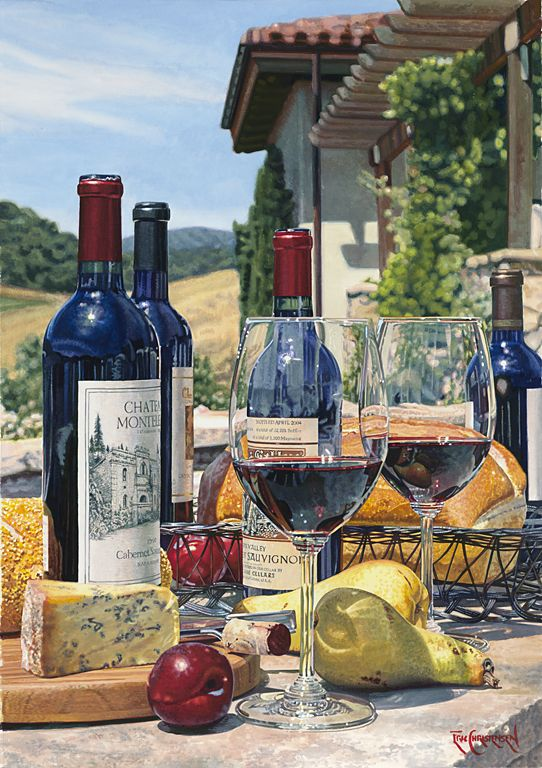 """Cabernet Day"" by Eric Christensen.  Limited Editions available in 24""x36"" & 28""x42"""