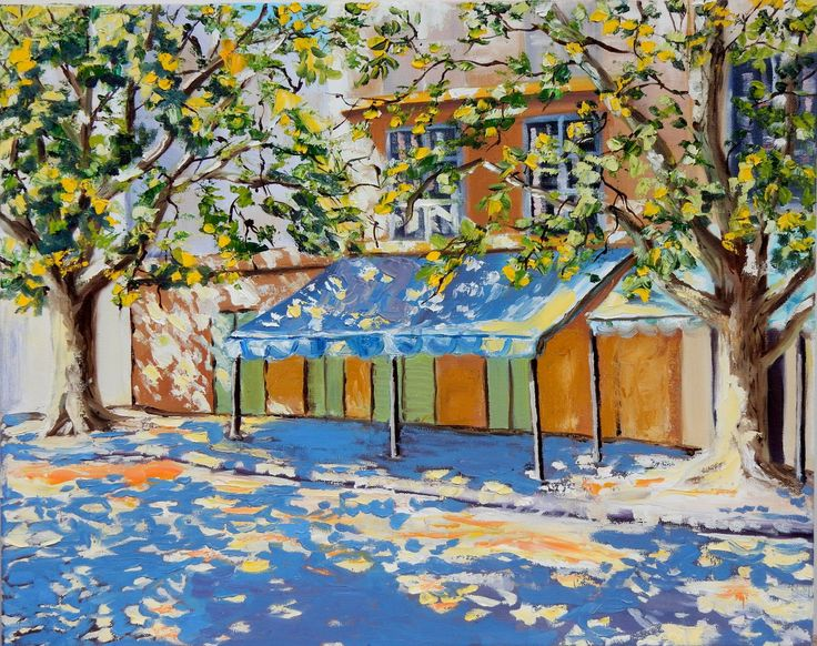 FINEARTSEEN - View Sunlit street by Vita Schagen. An original impressionist landscape painting from Vita's cityscape collection. Find the perfect artwork for your home or space. An original artwork available on FineArtSeen l The Home Of Original Art. Enjoy FREE DELIVERY on every order. Art for art lovers, interior designers and project managers. >