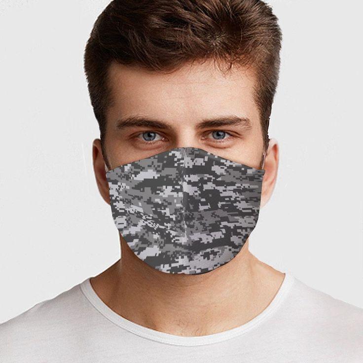 Gray digital camo face cover in 2020 mask digital camo