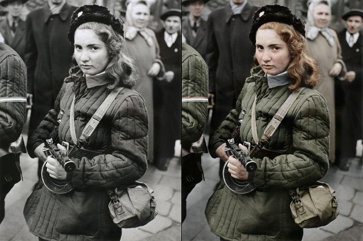 A vörös hajú Erika fotója a forradalom egyik jelképe lett. Hogy mi lett a lánnyal, az csak évtizedekkel később derült ki.
