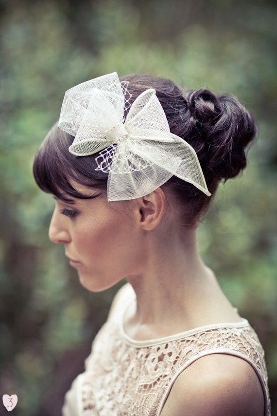 Bridal Hair Bows l Wedding hair    for #hairstyles and #hair advice visit  WWW.UKHAIRDRESSERS.COM