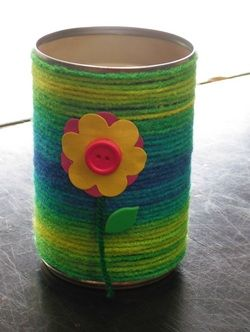 Pencil Cans for Mother's Day - I'm fairly certain I made one of these in elementary school!