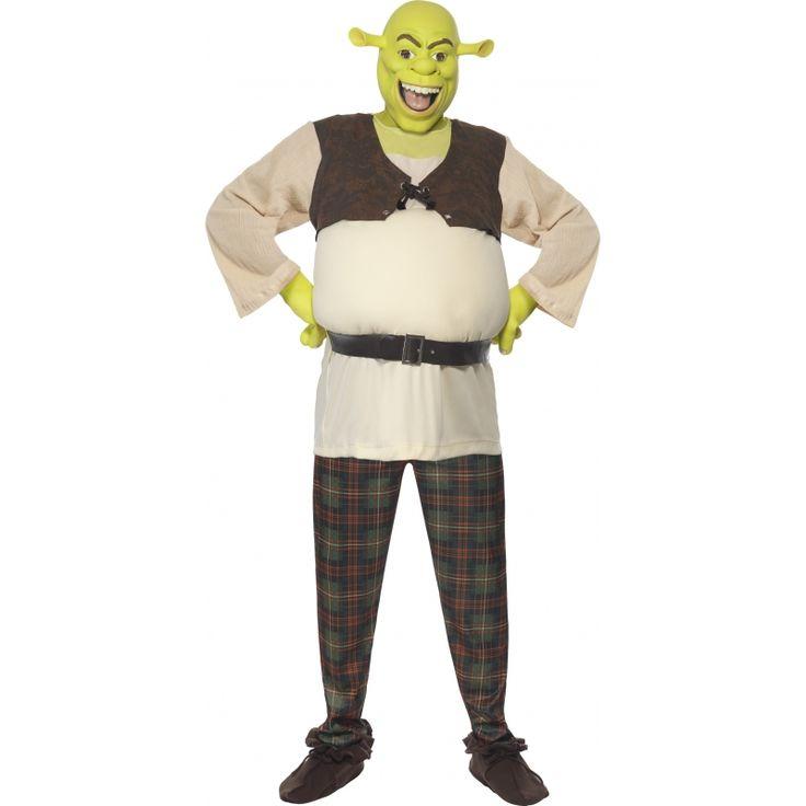 Schrek verkleed kostuum voor heren  Shrek kostuum voor heren. Mooi kostuum van Schrek uit de bekende film! Het Schrek kostuum bestaat uit de broek de bovenkant de handschoenen en het Schrek masker.  EUR 89.95  Meer informatie