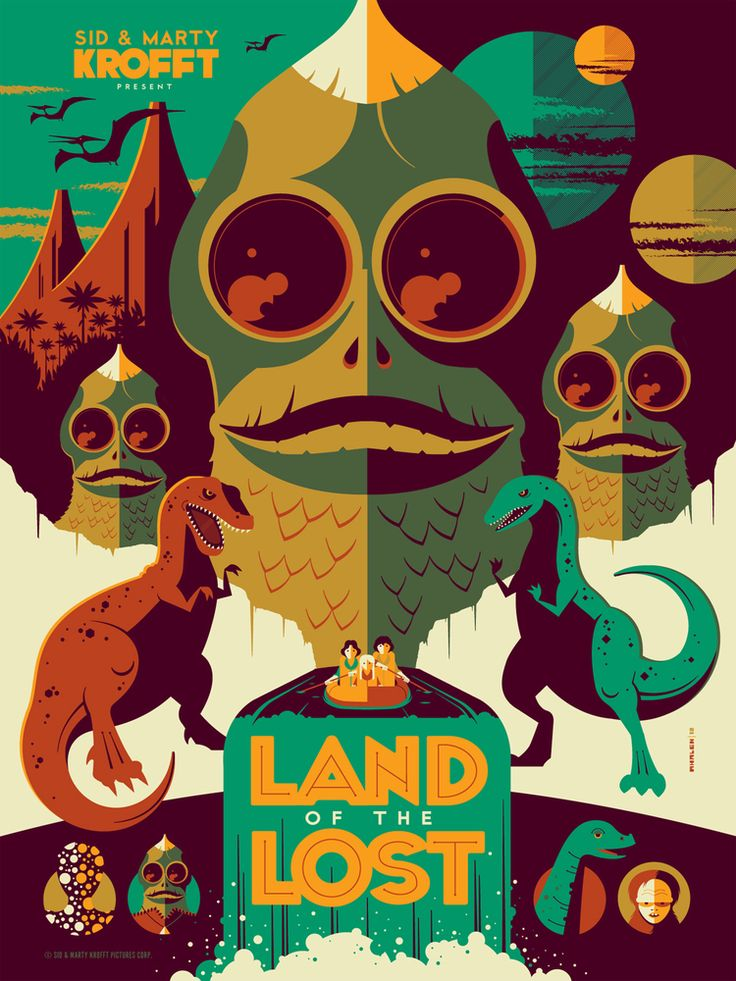 Land of the Lost (2009) ~ Alternative Movie Poster by Tom Whalen #amusementphile