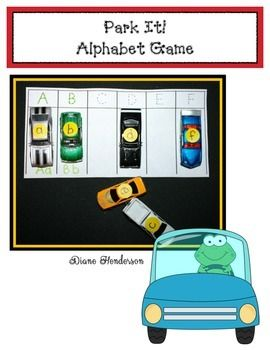 Park It! Alphabet Game - This hands-on game will be so popular, youll want to make several sets.  Print off on card stock or construction paper in your choice of color.  Laminate & trim.  Tape all of the parking lot cards together for one large-long parking lot, or keep them separate, so several children can play this super-fun matching game.
