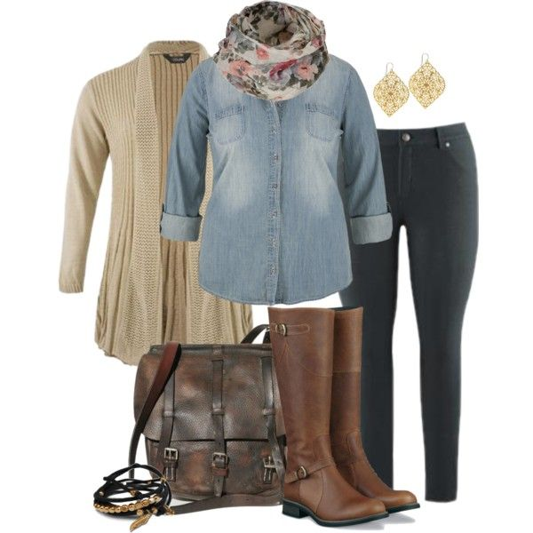 """Rugged Layers - Plus Size"" by alexawebb on Polyvore"