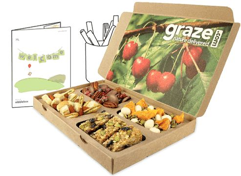 A code for you: TRISHA27P to try a free Graze box. (http://www.graze.com/us/p/TRISHA27T) I have a love-hate with food love it but forget to eat it during the day. At $6/box and shipping this right to my door, I have work snacks. YAY! No more remember to pack snacks nor nibbling on work donuts! Make sure to use my referral code for your free box.  graze | healthy snacks by mail | get nature delivered