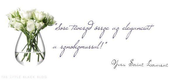"""""""Sose téveszd össze az eleganciát a sznobizmussal!"""" - Yves Saint Laurent"""