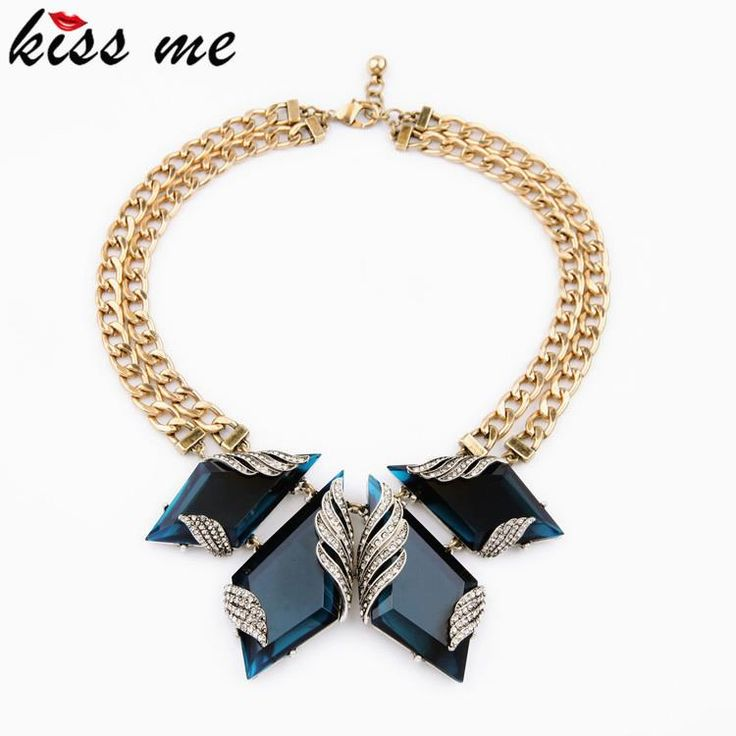 Hyperbole Fashion Statement Jewelry New Arrival Spring Blue Stone Wings Choker Necklace Like it?Visit us: www.servjewelry.c... #shop #beauty #Woman's fashion #Products #homemade