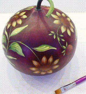 Painted gourd – how to paint on gourds for fun or profit!