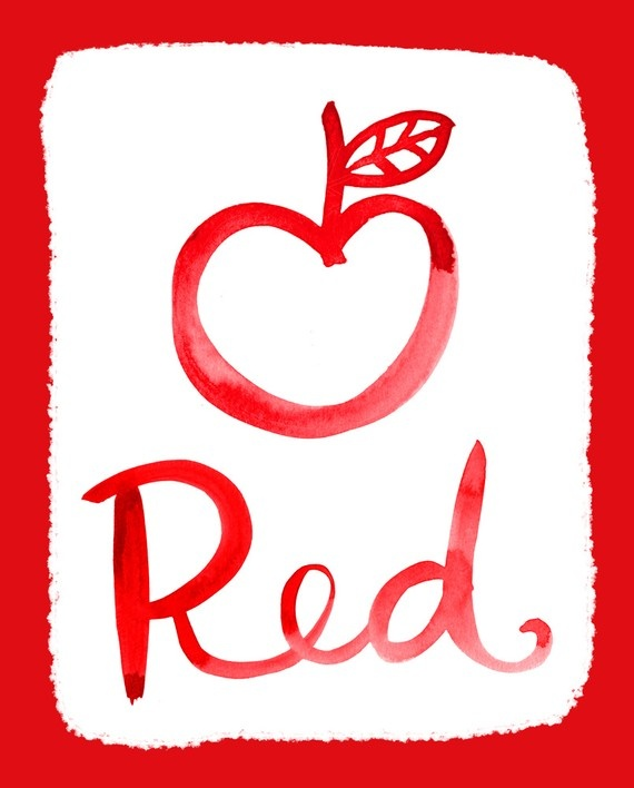 Red is my favourite colour because it's a cool colour!