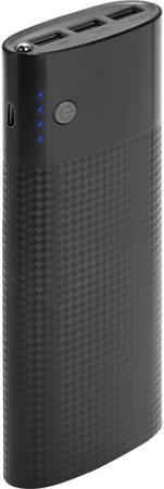 """InterStep InterStep PB150003U 15000 мАч  — 1990 руб. —  Портативное зарядное устройство InterStep PB150003U имеет стильный корпус с дизайном """"под карбон"""". Он изготовлен из высокопрочного пластика, способного защитить встроенную батарею и другие компоненты от случайных повреждений. Универсальное применение. Гаджет снабжен тремя портами USB с силой тока до 2,4 А. Благодаря этому он может работать с самыми разными мобильными девайсами – от беспроводных гарнитур и наушников до современных…"""