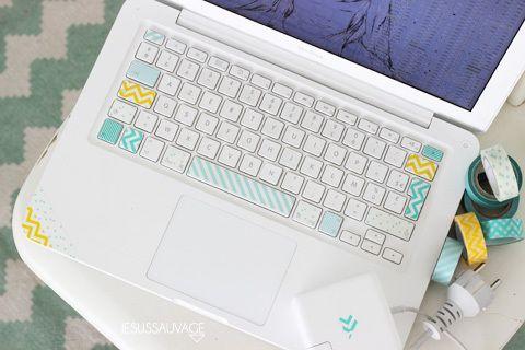 Masking Tape Donner un nouveau look à son clavier!