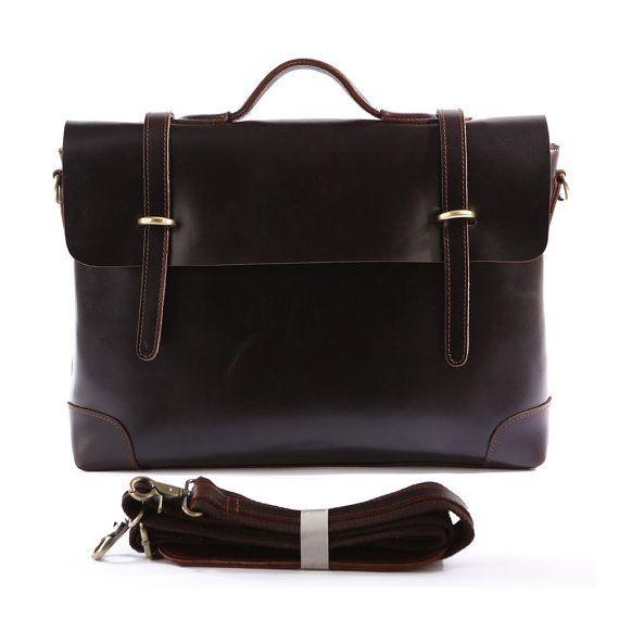 Superior Genuine Cow Leather Briefcase / door MooshiLeatherDesign, $109.00