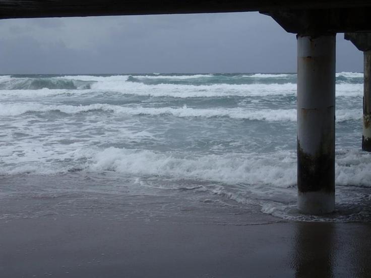 Lake Worth FL,Sandy messing the Ocean...