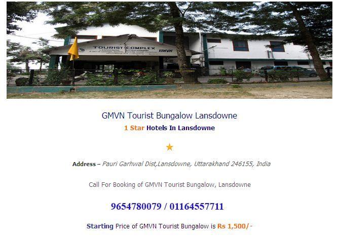 GMVN Tip N Top Lansdowne online booking at hotelsinlansdowne.co.in