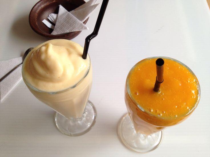Jugo y Milk shake de Mango