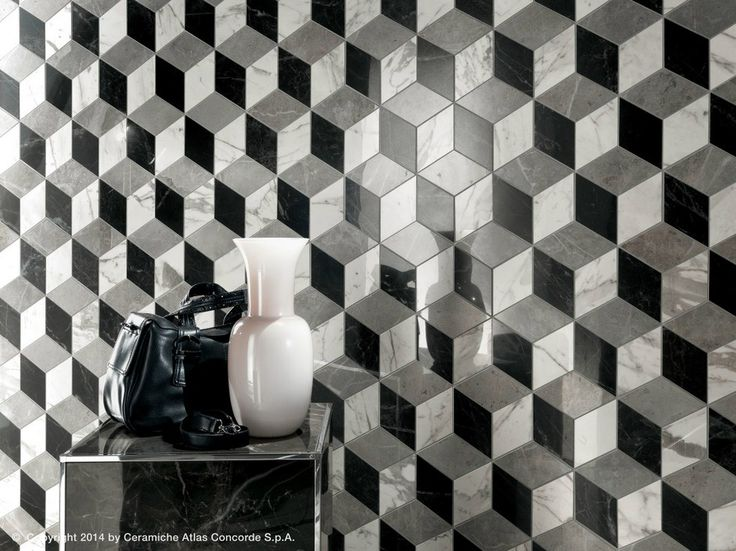 White-paste 3D Wall Panel MARVEL PRO WALL DESIGN White-body wall tiles Collection by Atlas Concorde