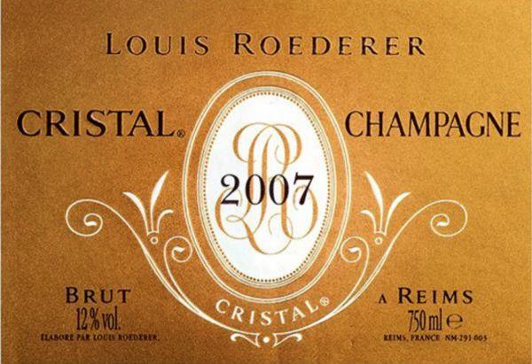 2007 Louis Roederer Champagne Cristal Brut