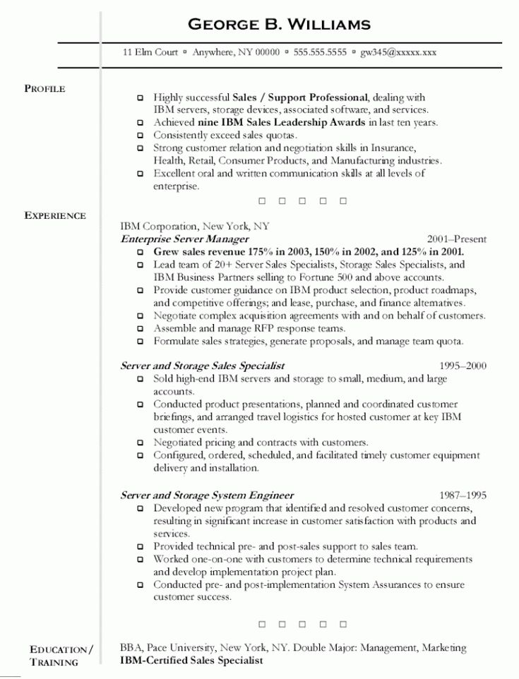Cover letter server resume sample with summary profile and