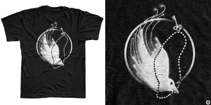 """Bird of paradise"" t-shirt design by sebrodbrick"